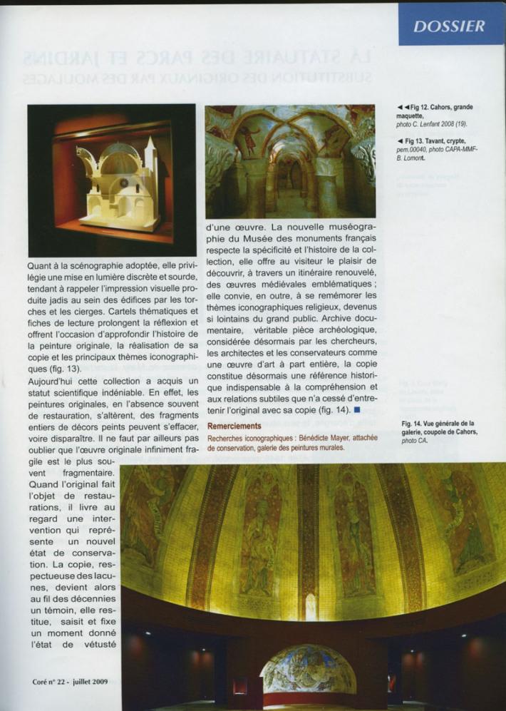 CONSERVATION ET RESTAURATION DU PATRIMOINE CULTUREL 3